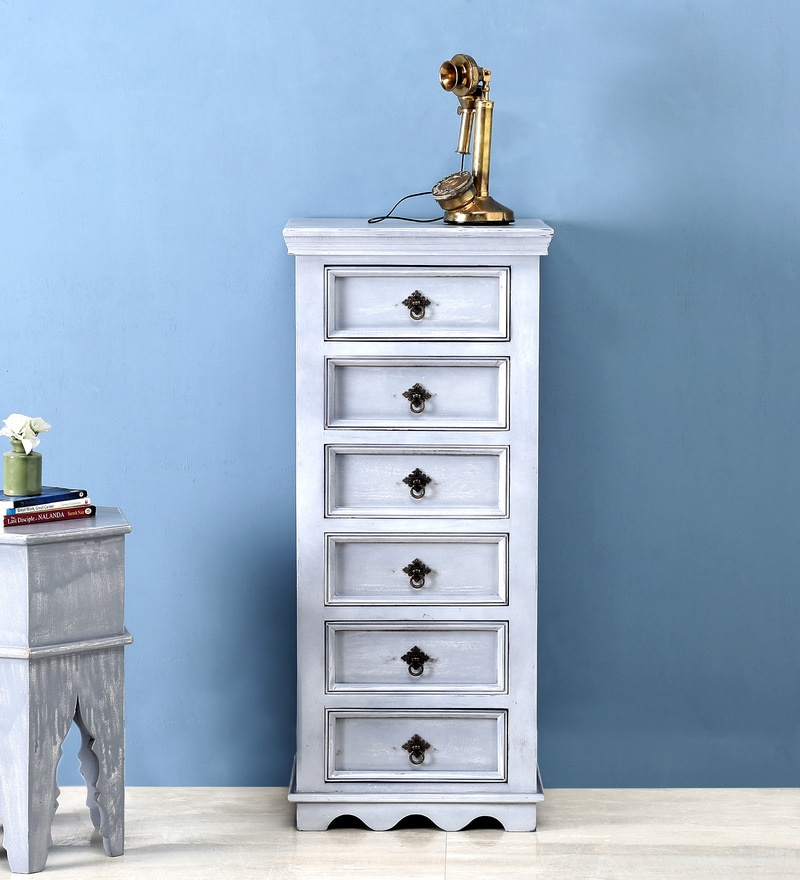 Hendrix Chest of Drawers in Grey Wash Finish by Bohemiana