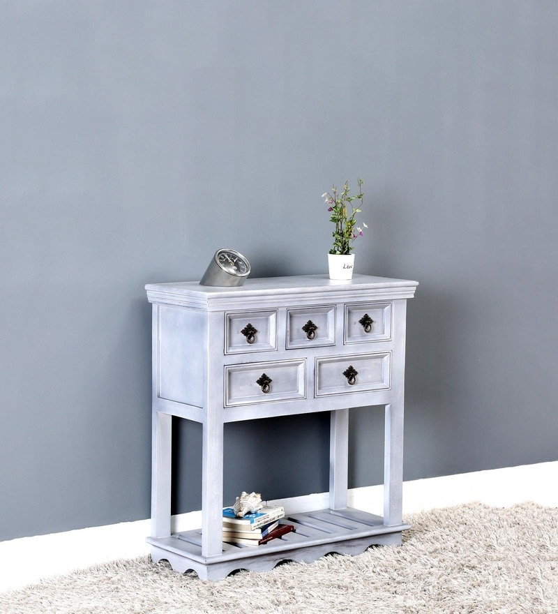 Hendrix Console Table in Grey Wash Finish by Bohemiana