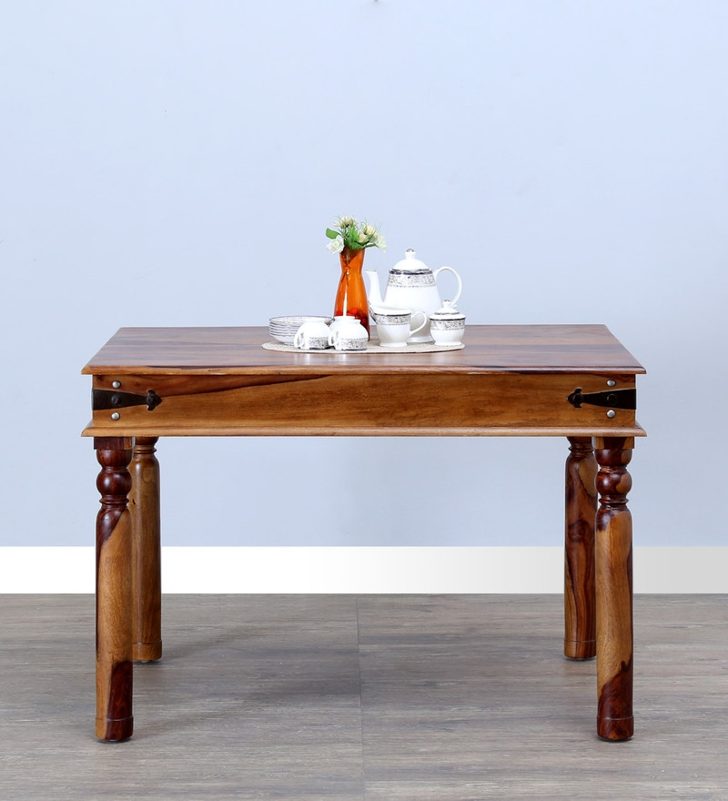 Henfrey Four Seater Dining Table in Provincial Teak Finish by Amberville