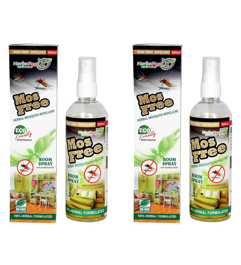 Herbo Pest Mosfree Brms001 Mosquito Repellent Spray - Set of 2