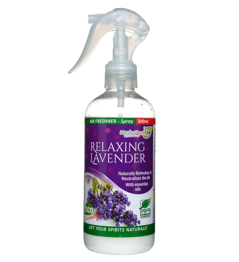 Herbo Pest Relaxing Lavender Air Freshner 300ml Spray Bottle : Pack of 1