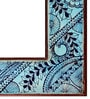 Blue Wooden Eye Catching Framed Decorative Mirror by Heera Hastkala