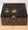 Mdf Wood & Leatherette Black Accessory Organiser by Height of Designs