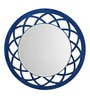 Height of Designs Blue Engineered Wood Anise Mirror