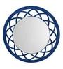 Aasra Blue Engineered Wood Anise Mirror