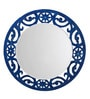 Height of Designs Blue Engineered Wood Eclectic Mirror