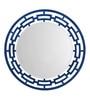 Aasra Blue Engineered Wood Weave Mirror