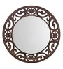 Aasra Brown Engineered Wood Eclectic Mirror