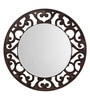 Height of Designs Brown Engineered Wood Floral Mirror