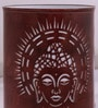 Brown Iron Holy Budha Table lamp by Aasras