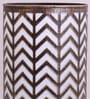 Gold and Black Iron Zig Zag Table Lamp by Height of Designs