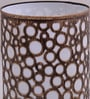 Gold Iron Circles Pattern Table lamp by Aasras