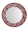 Height of Designs Multicolour Engineered Wood Tribal Mirror