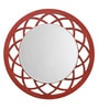 Height of Designs Orange Engineered Wood Anise Mirror