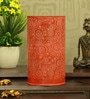Orange Iron Circles Table Lamp by Height of Designs