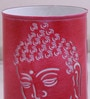 Pink & White Iron Budha Side Table lamp by Height of Designs