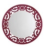 Height of Designs Pink Engineered Wood Eclectic Mirror