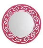 Height of Designs Pink Engineered Wood Tribal Mirror