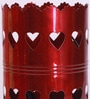 Red Iron Heart Table Lamp by Aasras