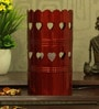 Red Iron Heart Table Lamp by Height of Designs