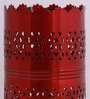 Red Iron Vertical Cutwork Table Lamp by Aasras
