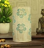 White and Blue Iron Flower Table Lamp by Height of Designs