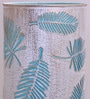 White and Blue Iron Palm Tree Leaf Table Lamp by Height of Designs