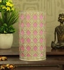 White and Pink Iron Abstract Table Lamp by Aasras
