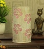 White and Pink Iron Flower Table Lamp by Height of Designs