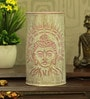 White and Pink Iron Holy Budha Table Lamp by Aasras