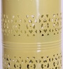 Yellow Iron Vertical Cutwork Table Lamp by Height of Designs