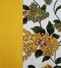 Heritage Fabs Yellow Cotton Motif Double Bed Sheet (with Pillow Cover) - Set of 3