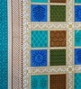 Heritagefabs Blue Cotton Anokhi Diwan Set - Set of 8