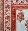 Heritagefabs Brown & White Cotton 8-piece Diwan Set