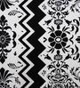 Heritagefabs Black & White Cotton 6-piece Diwan Set