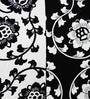 Heritagefabs White & Black Cotton 8-piece Diwan Set
