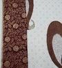 Heritagefabs Brown Cotton Goldline 8-piece Diwan Set