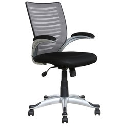 High Back Ergonomic Chair in Grey Back Rest by Parin at pepperfry