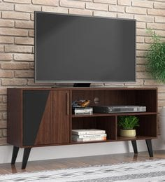 Hikari Tv Unit In Brown Black Finish