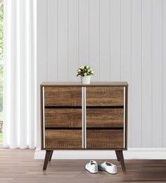 hiro two door shoe cabinet in oak finish