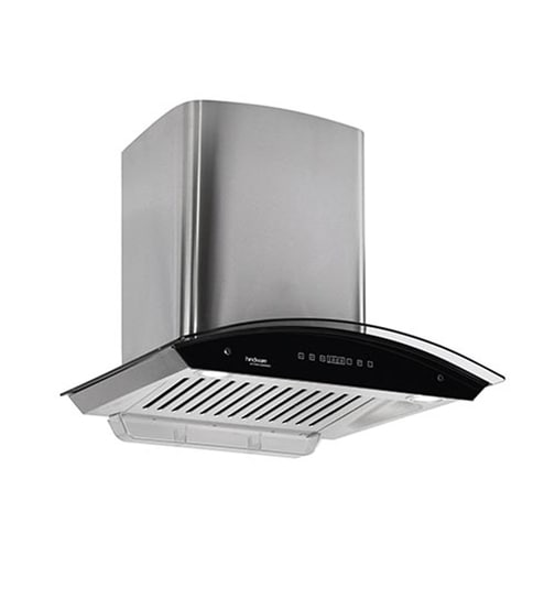 Hindware Nevio Silver 60 cm 1200 m3/h Auto Clean Touch Hood Chimney with LED Lamps
