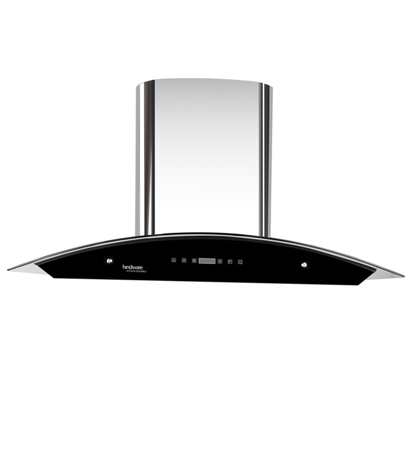 Hindware Nevio Silver 90 cm 1200 m3/h Auto Clean Touch Hood Chimney with LED Lamps