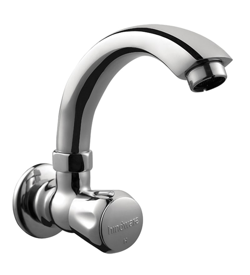 Hindware Silver Brass Basin Tap with Normal Swivel Spout (Model: F330024Cp)