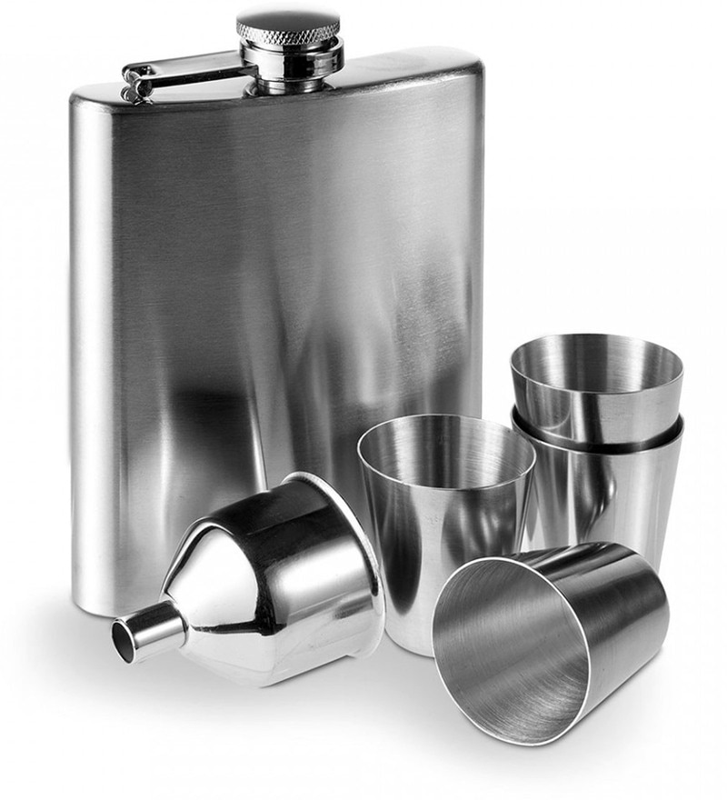 Hitplay Hip Flask with Shot Glass & Funnel