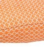 Hippo Square Rug filled Canvas Pouffe in Orange Colour by SIWA Style