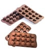 Hitplay Silicone Star & Heart Shape Chocolate Moulds - Set of 2