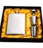 HitPlay Stainless Steel 4-piece Hip Flask with Shot Glasses Set