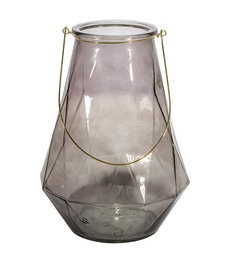 Home Artisan Grey Glass Nordic Glass Lantern