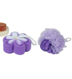 Home Creations Pack Of 2 Pc Designer Bathing Sponge Loofah For Men And Women -  Assorted Color