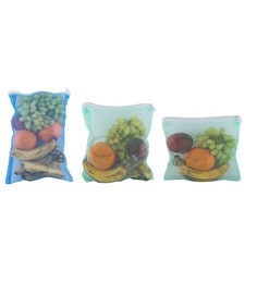 Home Creations Pack Of 6 Pc Reusable Mesh Fridge Storage Bags For Fruits And Vegetables-(Multicolour)